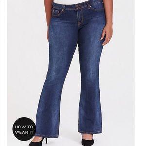 Torrid bootleg blue jeans.